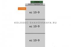 Септик из 3 колец с бетонной крышкой с пластиковым люком и со дном <br> Цена - 18 100 руб.