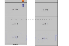 Септик переливной из 2 шахт по 4 и 5 колец с бетонными крышками с пластиковыми люками и со дном в 1-й шахте <br>Цена - 48 300 руб.