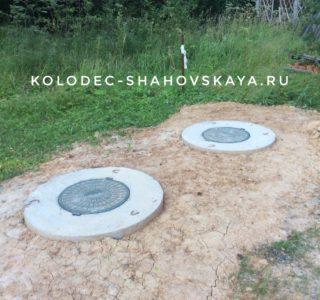 Выполнили переливной септик из бетонных колец под ключ в Шаховской